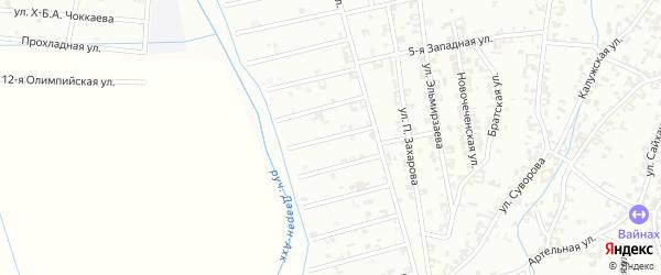 13-й Атагинский переулок на карте Шали с номерами домов