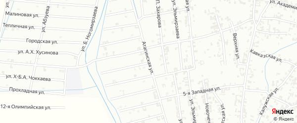 Атагинская улица на карте Шали с номерами домов