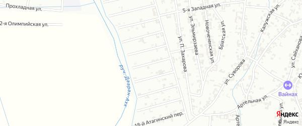 14-й Атагинский переулок на карте Шали с номерами домов
