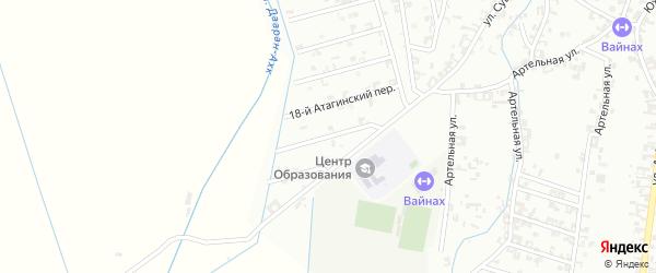 Переулок 1-й Суворова на карте Шали с номерами домов