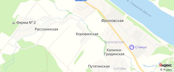Карта Никулинской деревни в Архангельской области с улицами и номерами домов