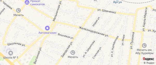 Заводская улица на карте Аргуна с номерами домов