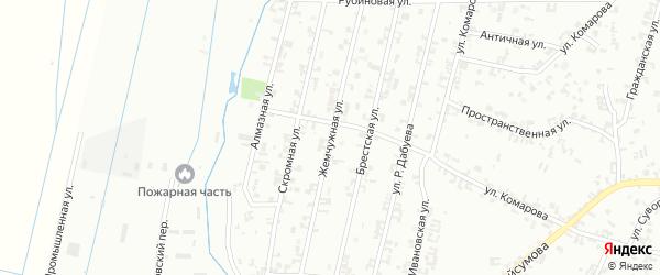 Жемчужная улица на карте Шали с номерами домов