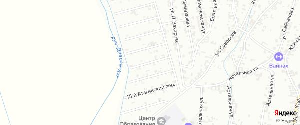 16-й Атагинский переулок на карте Шали с номерами домов