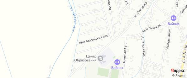 18-й Атагинский переулок на карте Шали с номерами домов
