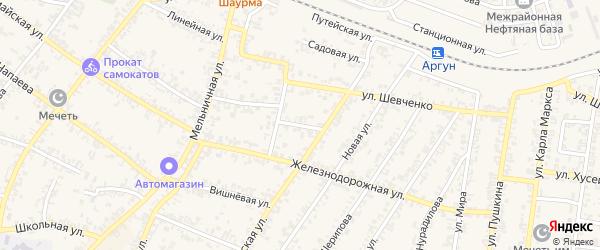 Улица М.Лермонтова на карте Аргуна с номерами домов