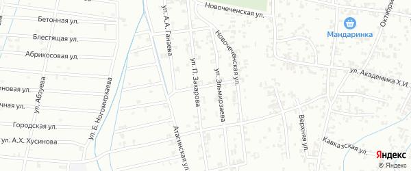 Абонентский ящик 2-я Западная на карте Шали с номерами домов