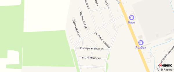 Величавая улица на карте села Мескер-Юрт с номерами домов