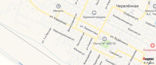 Улица Д.Бедного на карте Червленной станицы с номерами домов