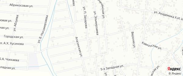 3-я Западная улица на карте Шали с номерами домов