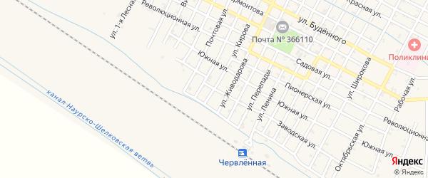 Улица Кирова на карте Червленной станицы с номерами домов