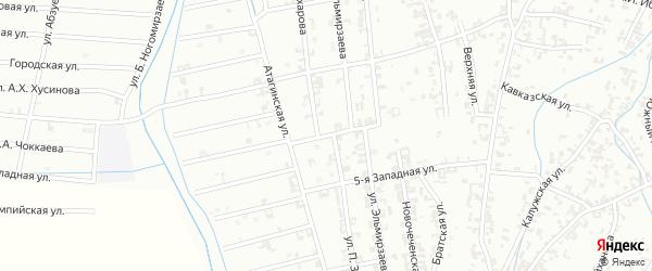 4-я Западная улица на карте Шали с номерами домов