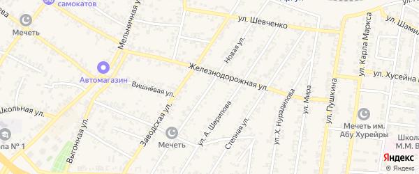 Новая улица на карте Аргуна с номерами домов