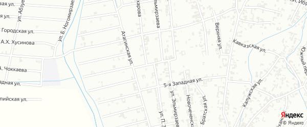 Улица П.Захарова на карте Шали с номерами домов