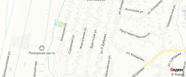 Брестская улица на карте Шали с номерами домов