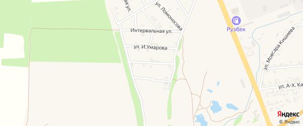 Улица С.Махмадхаджиева на карте села Мескер-Юрт с номерами домов