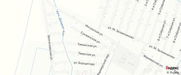 Сунженская улица на карте Шали с номерами домов