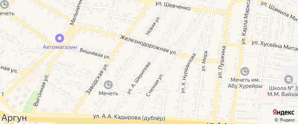 Улица А.Сулейманова на карте Аргуна с номерами домов