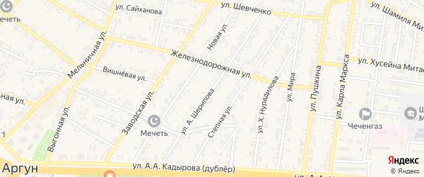 Улица А.Ахъядова на карте Аргуна с номерами домов