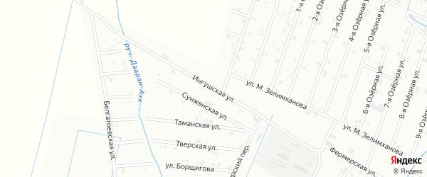 Ингушская улица на карте Шали с номерами домов