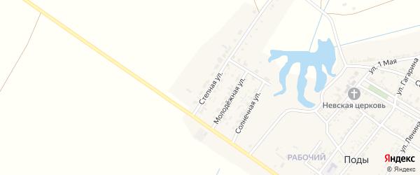 Степная улица на карте села Поды с номерами домов