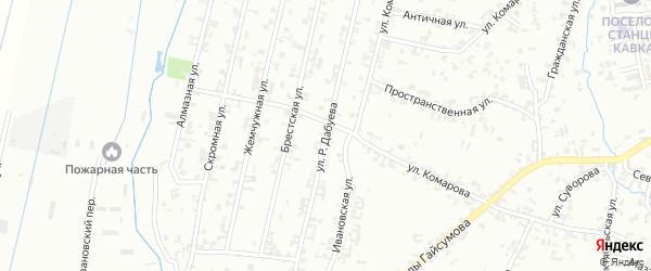 Улица Р.Дабуева на карте Шали с номерами домов