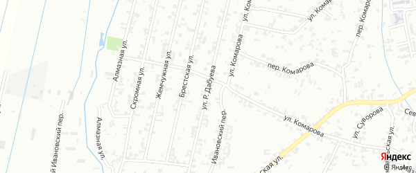 Улица Р.М.Асуханова на карте Шали с номерами домов