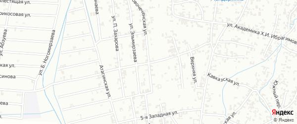 Новая улица на карте Шали с номерами домов