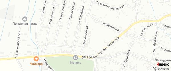 Ивановский переулок на карте Шали с номерами домов