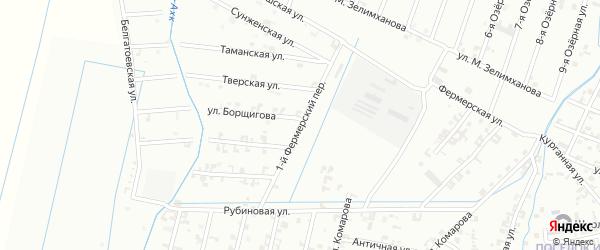 1-й Фермерский переулок на карте Шали с номерами домов