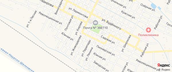 Кооперативная улица на карте Червленной станицы с номерами домов