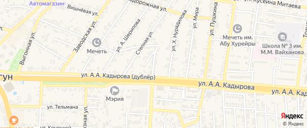 Степной переулок на карте Аргуна с номерами домов