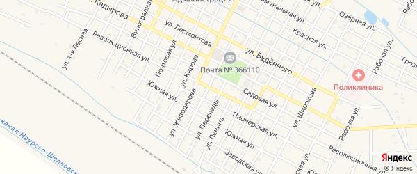 Революционная улица на карте Червленной станицы с номерами домов