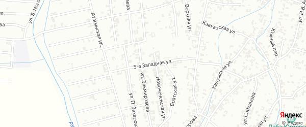 5-я Западная улица на карте Шали с номерами домов