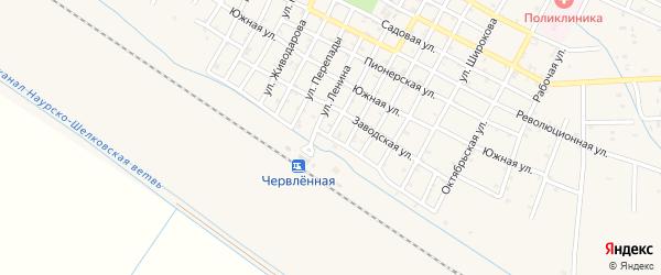 Вокзальная улица на карте Червленной станицы с номерами домов