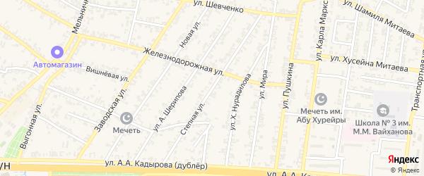 Степная улица на карте Аргуна с номерами домов