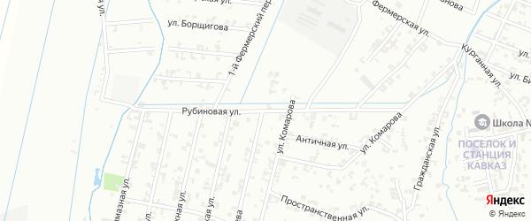 Рубиновая улица на карте Шали с номерами домов
