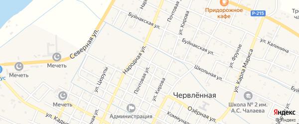 Почтовая улица на карте Червленной станицы с номерами домов