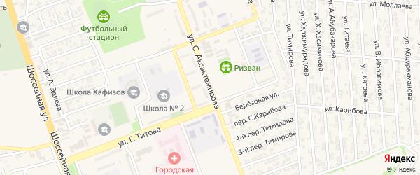 Улица С.Аксактемирова на карте Аргуна с номерами домов