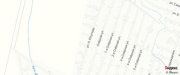 Улица Н. Юсупова на карте Шали с номерами домов