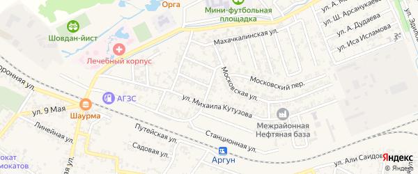 Лесная улица на карте Аргуна с номерами домов