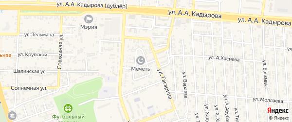 Улица Садовое кольцо на карте Аргуна с номерами домов
