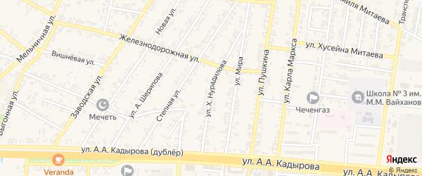 Улица Х.Нурадилова на карте Аргуна с номерами домов