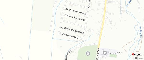 11-я Шалинская улица на карте Шали с номерами домов