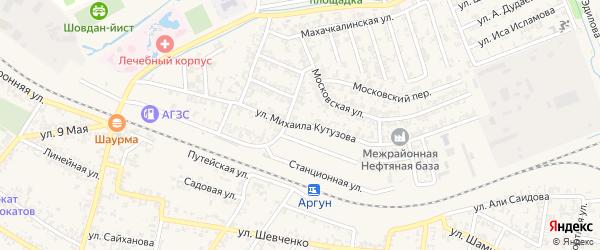 Переулок М.Кутузова на карте Аргуна с номерами домов