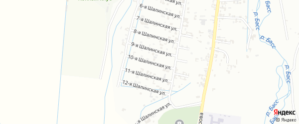 10-я Шалинская улица на карте Шали с номерами домов