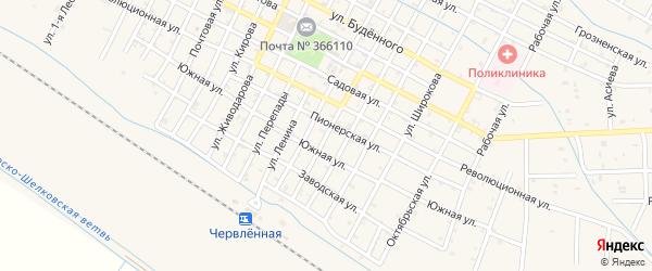 Улица К.Маркса на карте Червленной станицы с номерами домов