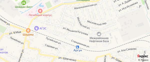 Станционная улица на карте Аргуна с номерами домов
