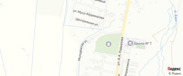 13-я Шалинская улица на карте Шали с номерами домов