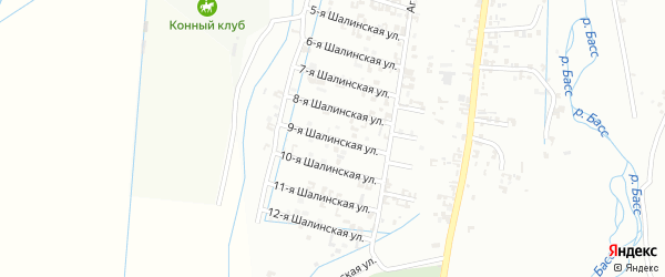 9-я Шалинская улица на карте Шали с номерами домов
